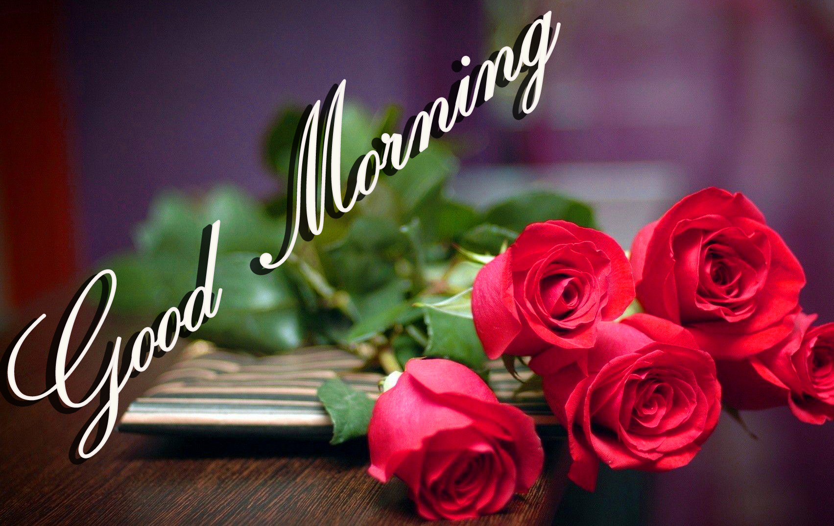 Good Morning Images Wallpaper Pics HD Download With Red Rose for Girlfriend