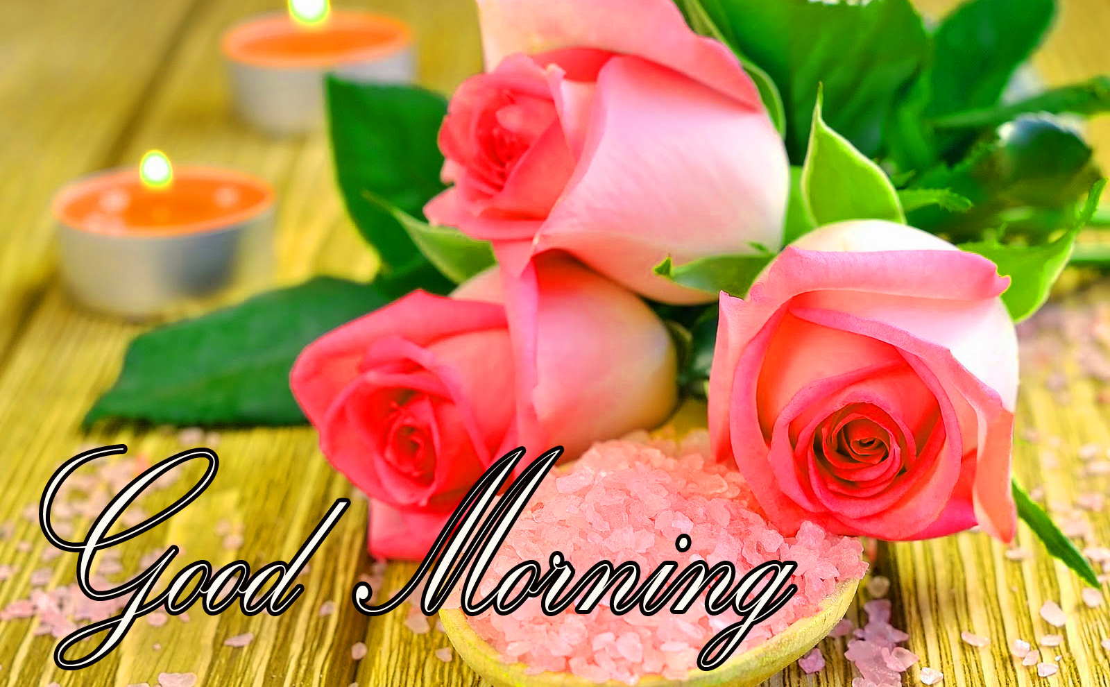 Good Morning Images Wallpaper Photo Pic Download With Red Rose HD
