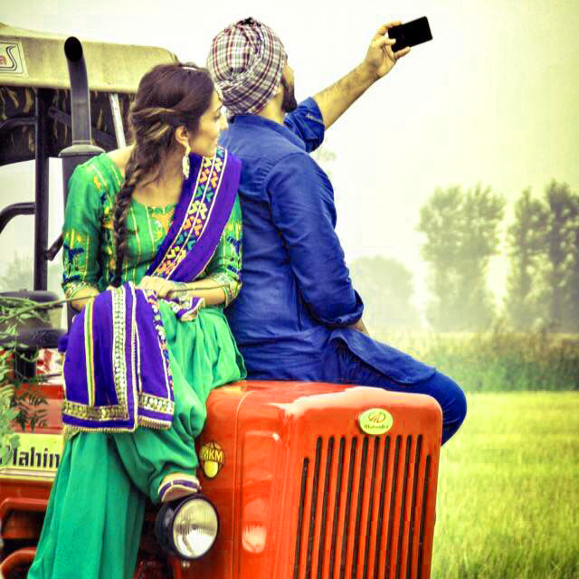 Sweet Cute Punjabi Wedding Lover Love Couple Pictures Images Photo Wallpaper Download