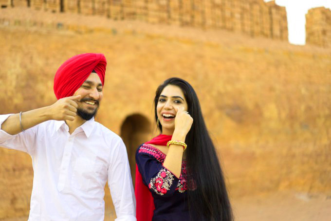 Sweet Cute Punjabi Wedding Lover Love Couple Photo Images Pictures HD