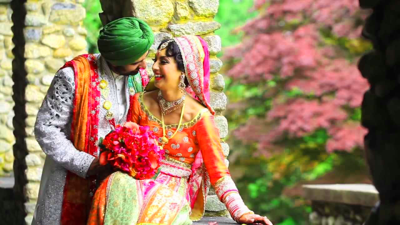 Sweet Cute Punjabi Wedding Lover Love Couple Images Photo Download
