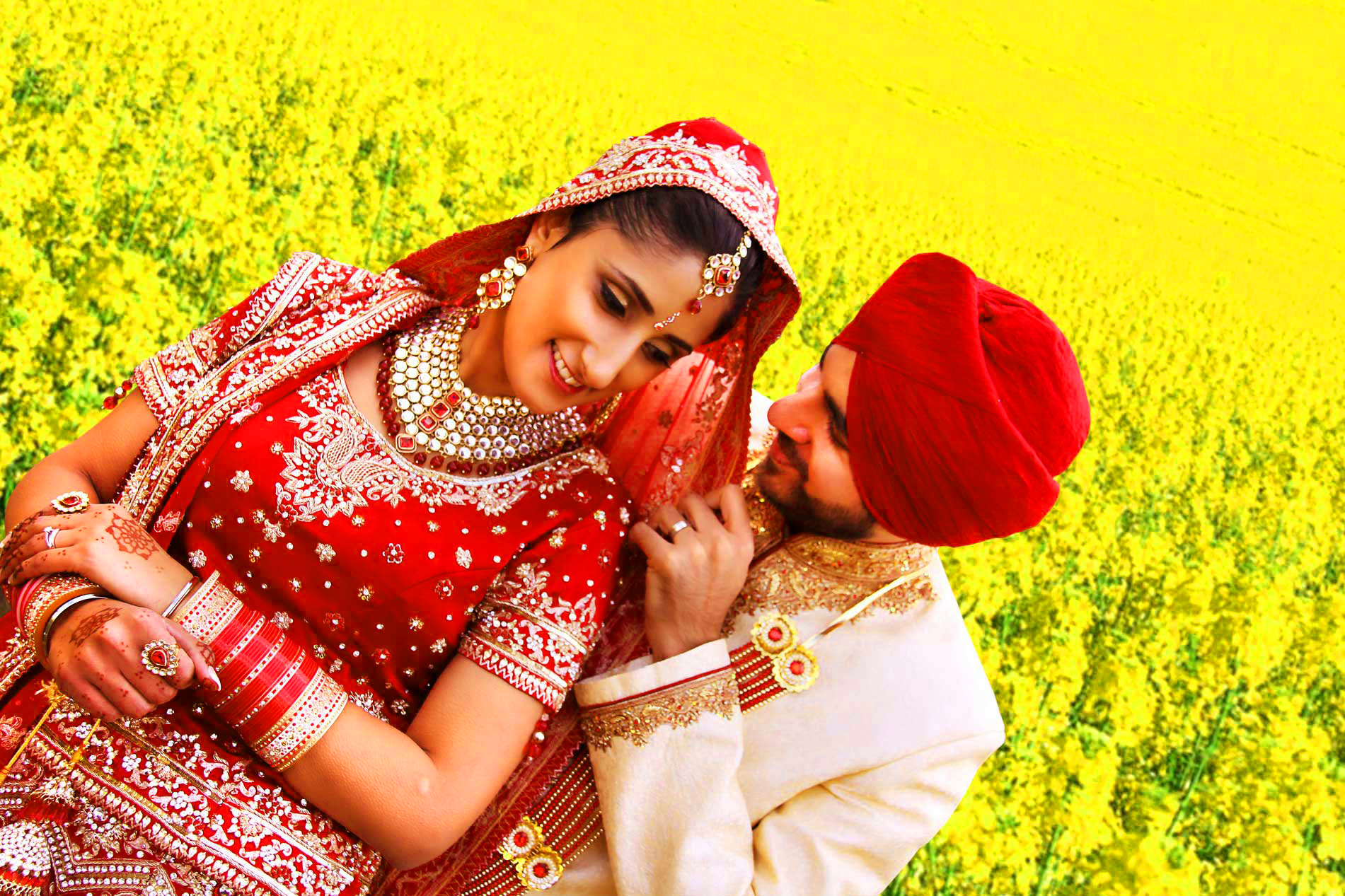 Sweet Cute Punjabi Wedding Lover Love Couple Wallpaper Pictures Images Free Download