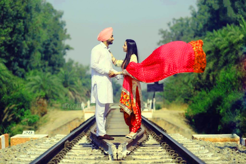 Sweet Cute Punjabi Wedding Lover Love Couple Wallpaper Photo Images HD Download