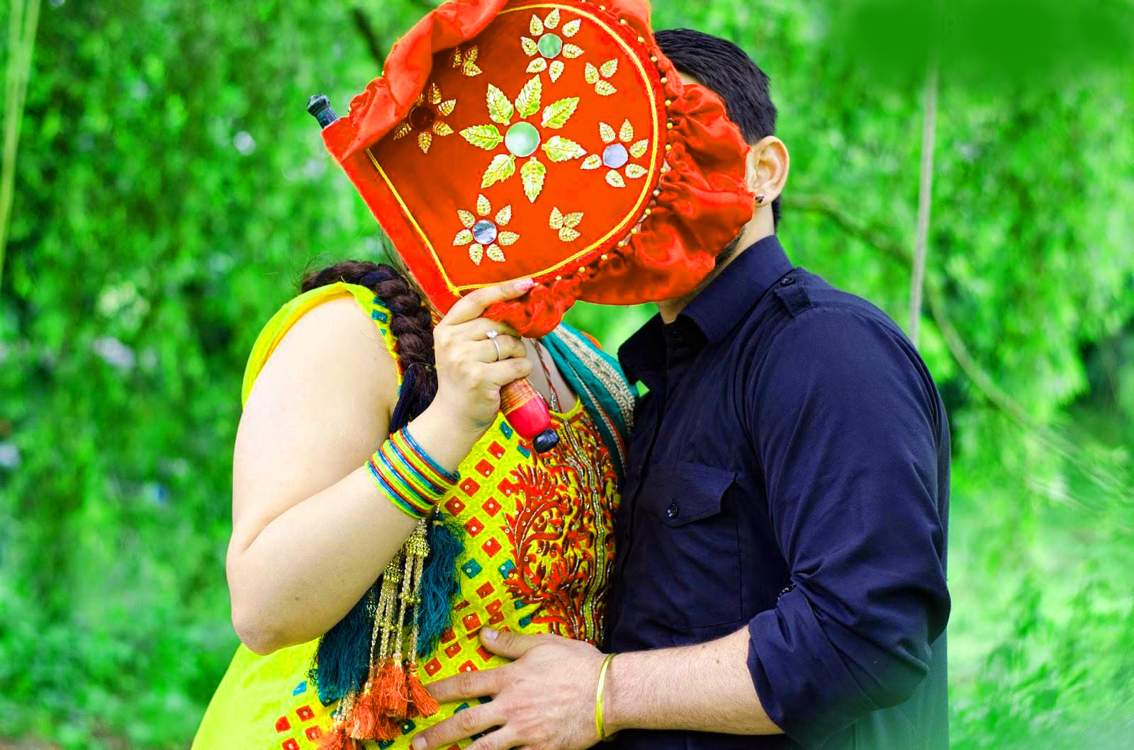 Sweet Cute Punjabi Wedding Lover Love Couple Photo Wallpaper Download