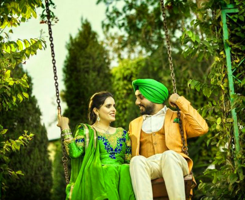 Sweet Cute Punjabi Wedding Lover Love Couple Wallpaper Pictures Images Download