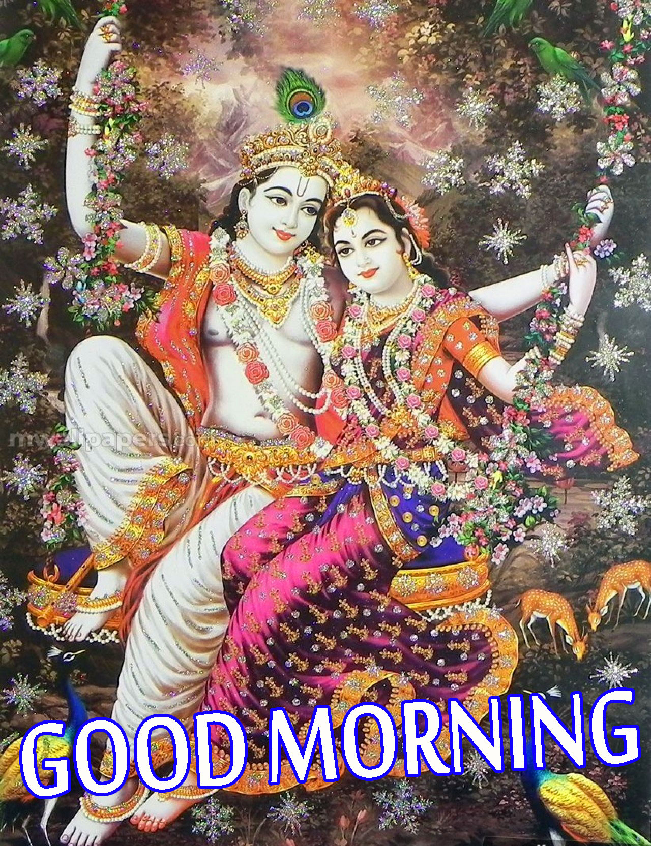 Radha Krishna Good Morning Images Wallpaper Pics Photo HD Download
