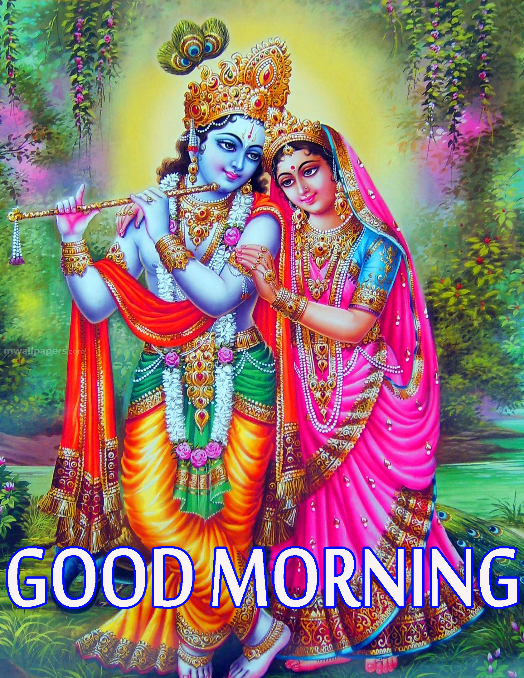 Radha Krishna Good Morning Images Wallpaper Pics Download