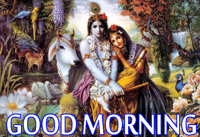 Radha Krishna Good Morning Images Wallpaper Pics Download In HD