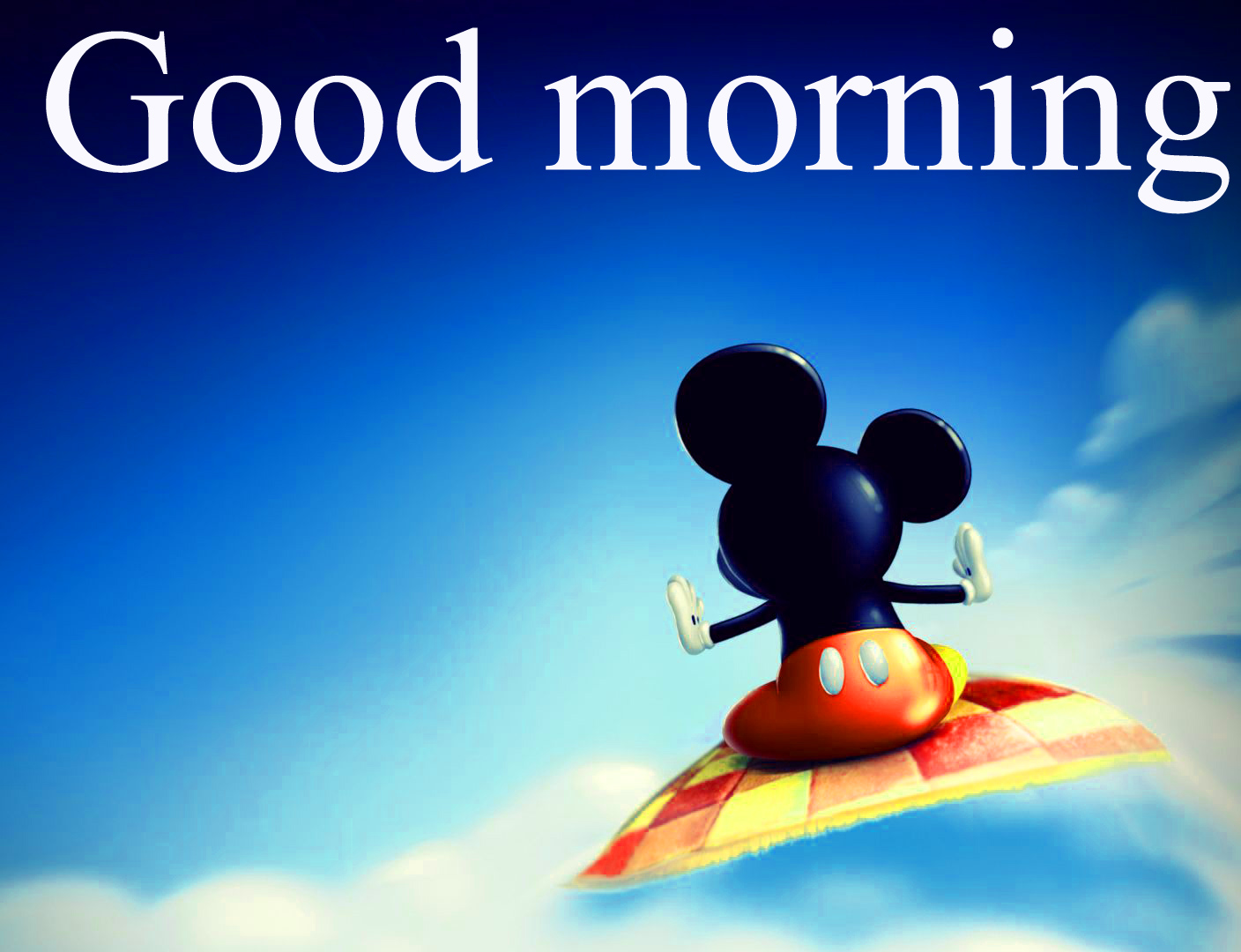 Good morning  wishes with mickey Images Photo Wallpaper Free Download
