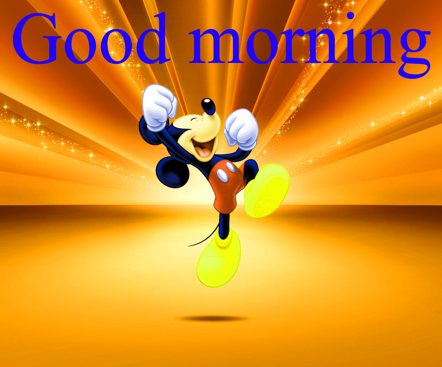 Good morning  wishes with mickey Photo Images Free HD Download