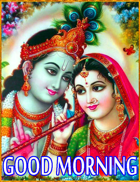 Radha Krishna Good Morning Images Photo Wallpaper Download