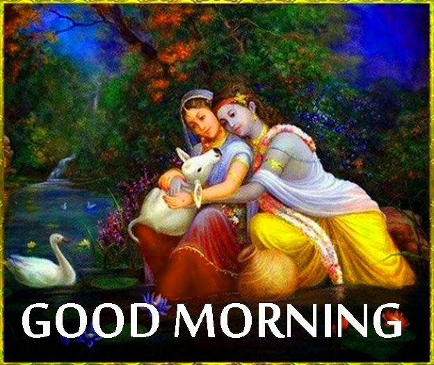 Radha Krishna Good Morning Images Wallpaper Pictures Download HD