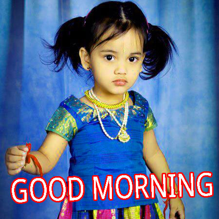 Good Morning Indian Cute baby Girls Boys images Pictures Pics HD Download
