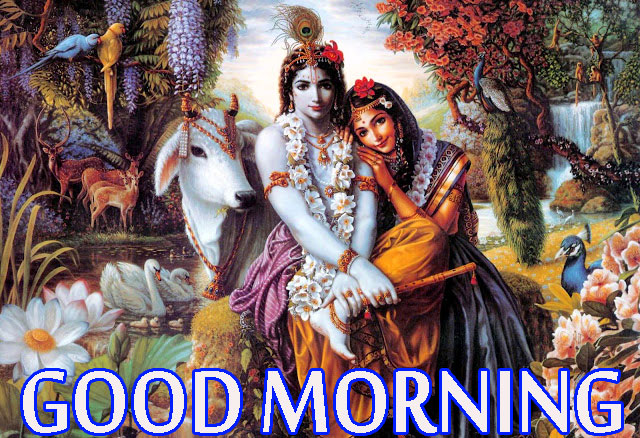 Radha Krishna Good Morning Images Photo Wallpaper HD Download