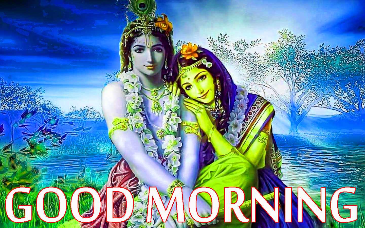 Radha Krishna Good Morning Images Wallpaper Pics HD Download