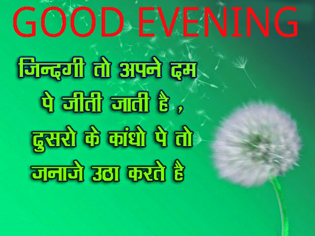 Hindi Good Evening Images With Hindi Shayari Pics Photo Pictures Free Download