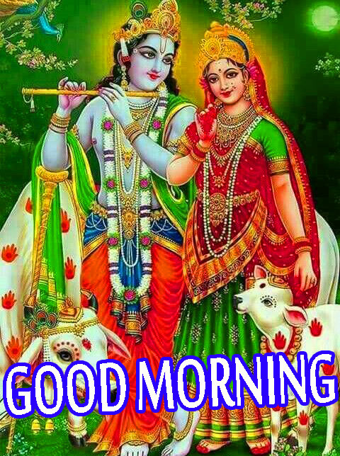 Radha Krishna Good Morning Images Wallpaper Pics HD For Whatsapp