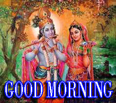 Radha Krishna Images With Love Hindi Quotes Good morning Photo Pictures Wallpaper Download