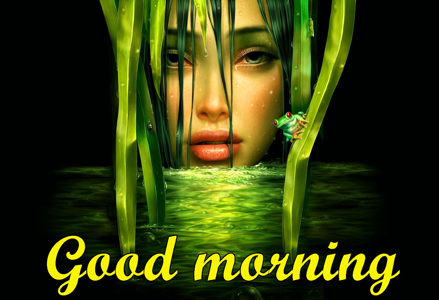 BEAUTIFUL 3D GOOD MORNING IMAGES WALLPAPER PICS WITH BEAUTIFUL GIRL