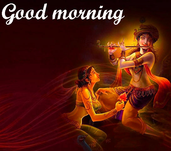 BEAUTIFUL 3D GOOD MORNING IMAGES PICS WITH KRISHNA