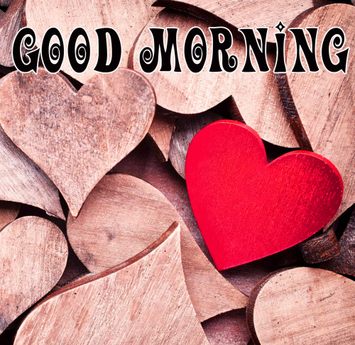 Good morning wishes with heart Images Wallpaper Pics Download