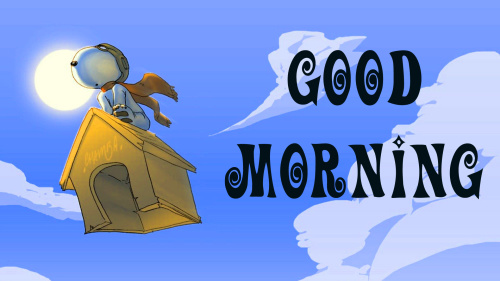 Snoopy good morning Images Photo Download