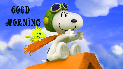 Snoopy good morning Images Wallpaper Pic for Whatsapp