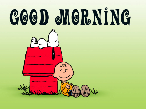 Snoopy good morning Images Pictures Wallpaper Download