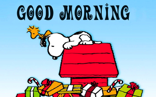 Snoopy good morning Images Pics Pictures Download