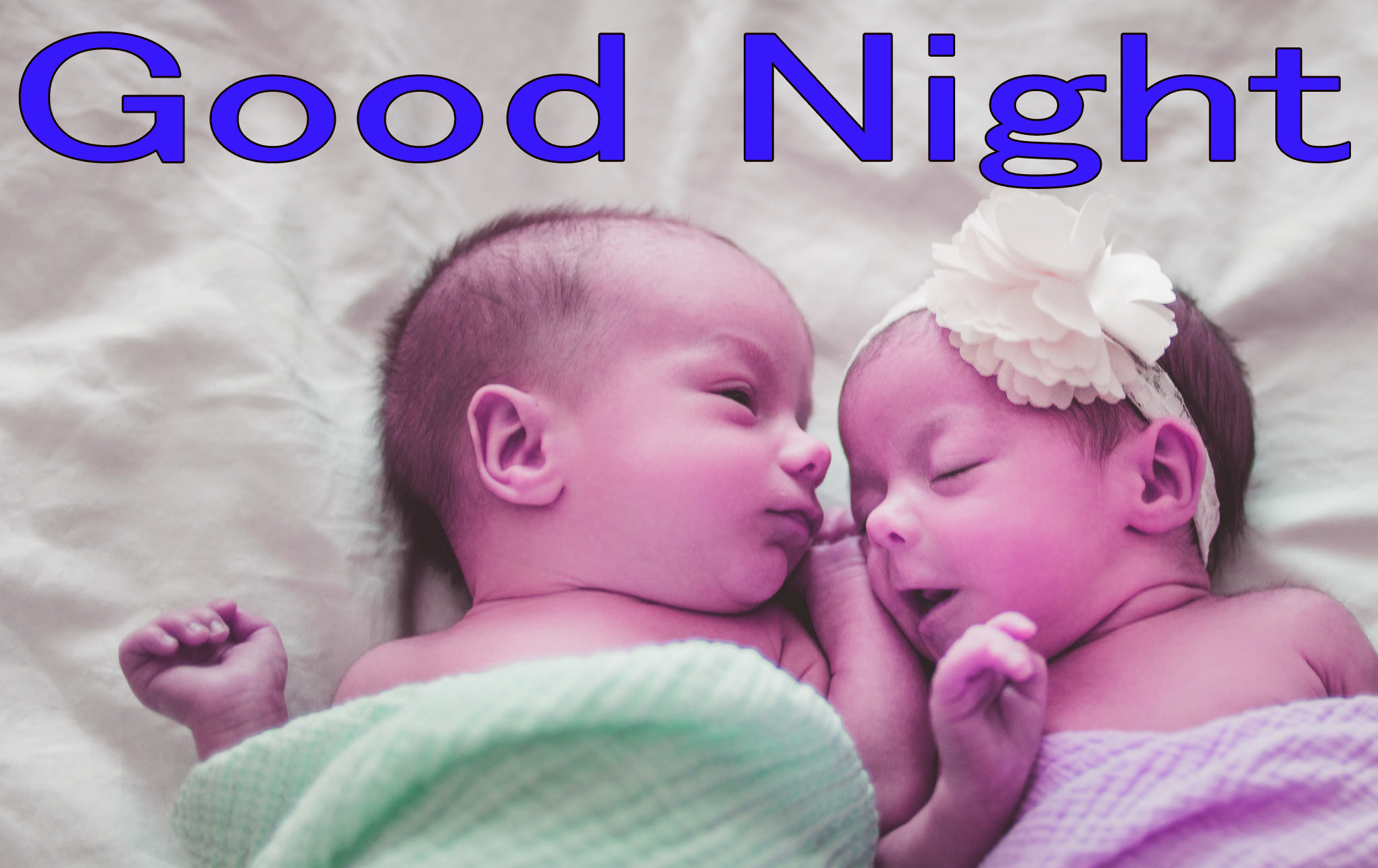 GOOD NIGHT IMAGES WITH CUTE BABY BOYS & GIRLS WALLPAPER PICTURES HD