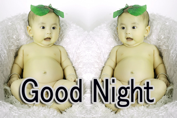 GOOD NIGHT IMAGES WITH CUTE BABY BOYS & GIRLS WALLPAPER PICTURES FREE