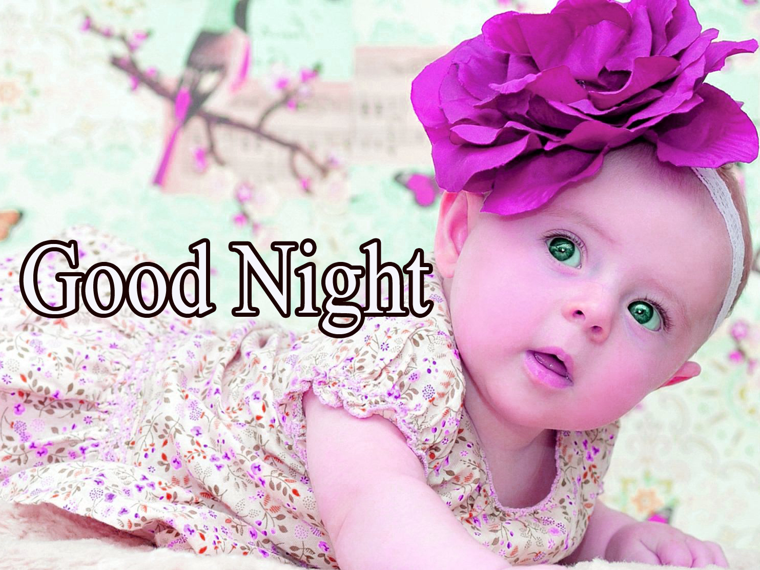 GOOD NIGHT IMAGES WITH CUTE BABY BOYS & GIRLS PHOTO FOR WHATSAPP