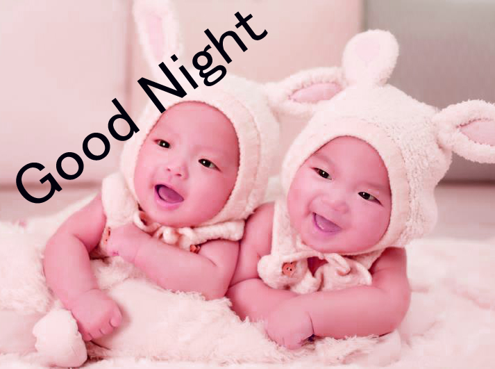 GOOD NIGHT IMAGES WITH CUTE BABY BOYS & GIRLS  WALLPAPER PICTURES FOR WHATSAPP