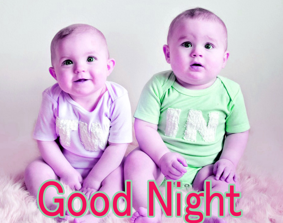 GOOD NIGHT IMAGES WITH CUTE BABY BOYS & GIRLS PHOTO FOR FACEBOOK