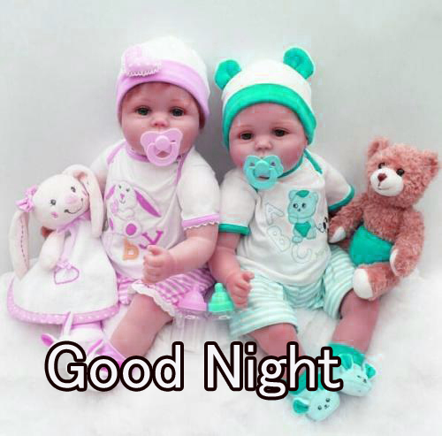 GOOD NIGHT IMAGES WITH CUTE BABY BOYS & GIRLS WALLPAPER PIC FREE DOWNLOAD & SHARE