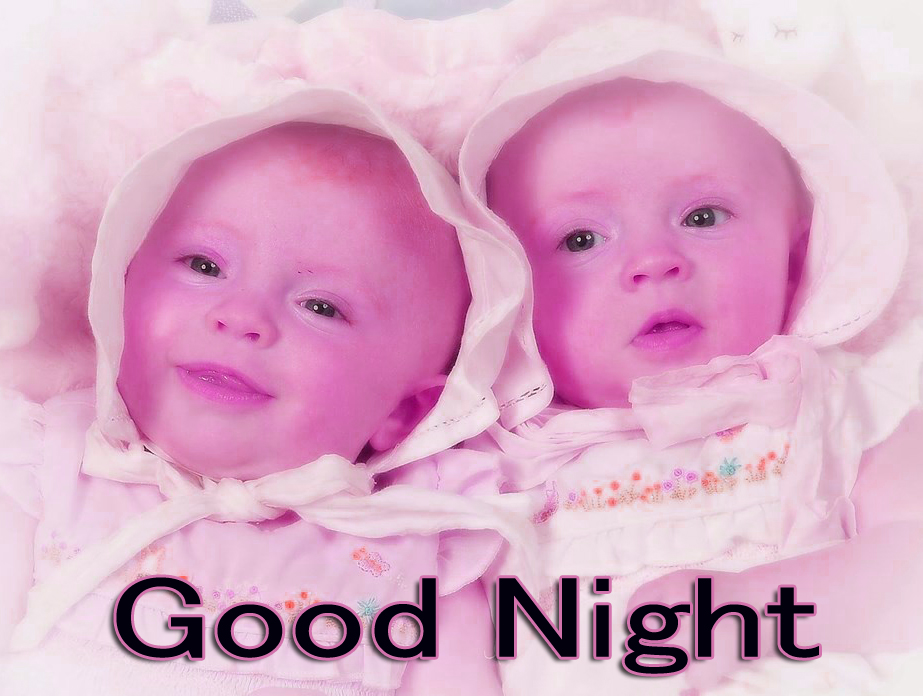 GOOD NIGHT IMAGES WITH CUTE BABY BOYS & GIRLS WALLPAPER PIC FREE FOR FACEBOOK