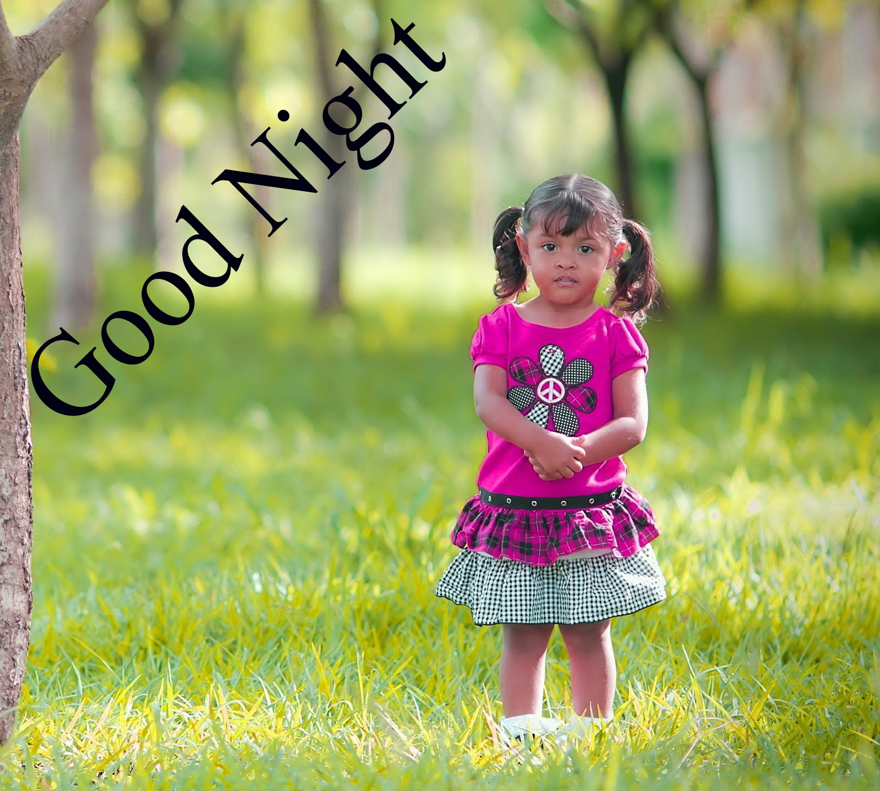 GOOD NIGHT IMAGES WITH CUTE BABY BOYS & GIRLS WALLPAPER PICTURE