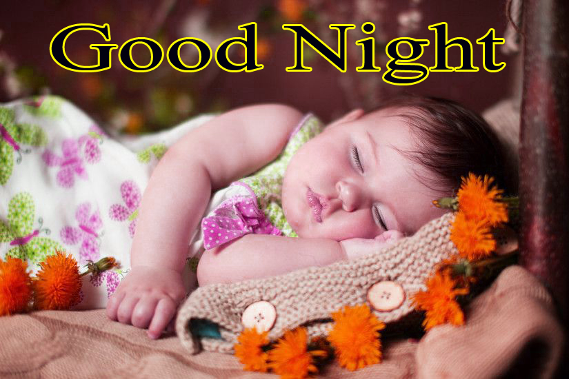 GOOD NIGHT IMAGES WITH CUTE BABY BOYS & GIRLS WALLPAPER PICS FOR WHATSAPP