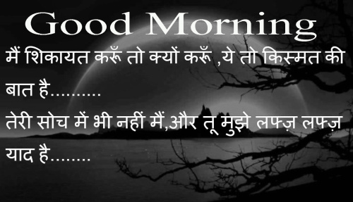 HINDI SHAYARI GOOD MORNING IMAGES PHOTO PICS