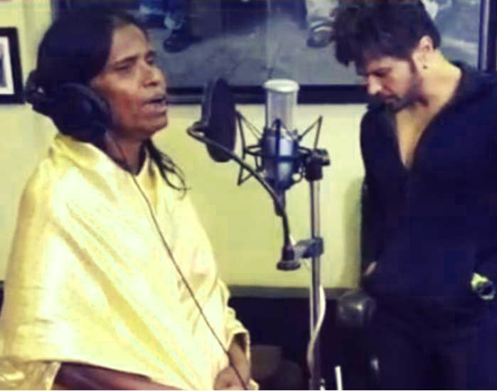 RANU MONDAL IMAGES WALLAPPER PICS WITH HIMESH RESHAMMIYA SINGER SUPERSTAR PICS