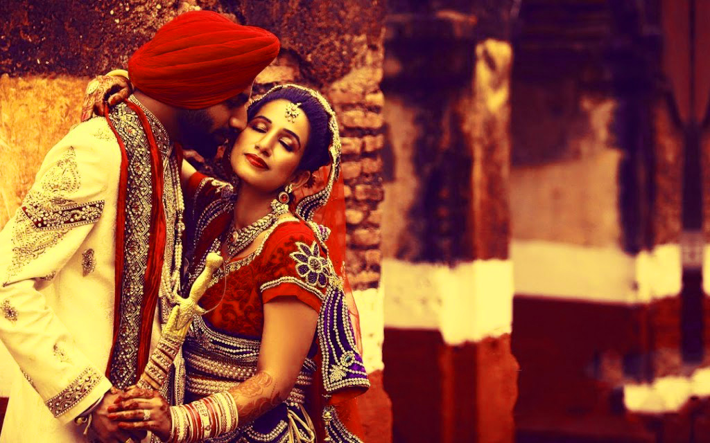 Sweet Cute Punjabi Wedding Lover Love Couple Photo Pictures Free HD Download