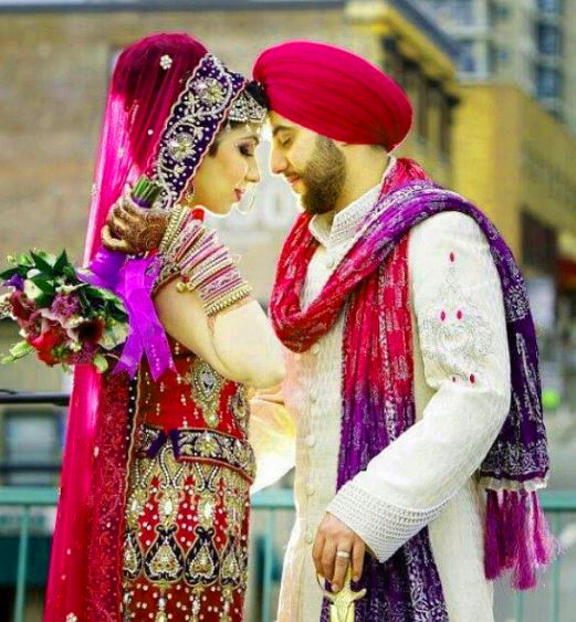 Sweet Cute Punjabi Wedding Lover Love Couple Photo Wallpaper Pictures Free Download