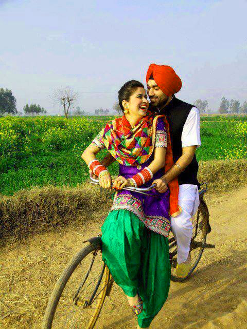 Sweet Cute Punjabi Wedding Lover Love Couple Images Photo Wallpaper Download