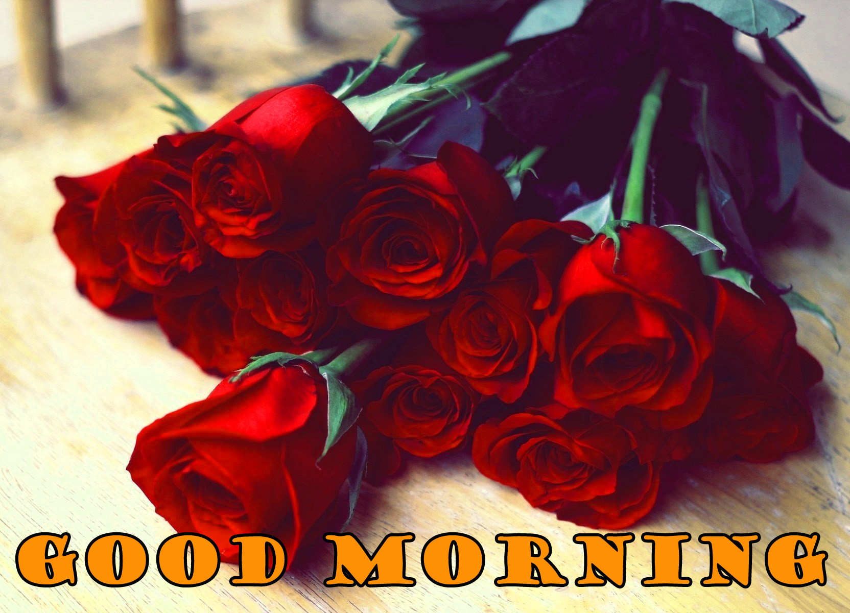 Good Morning Red Rose Pictures Wallpaper For Facebook