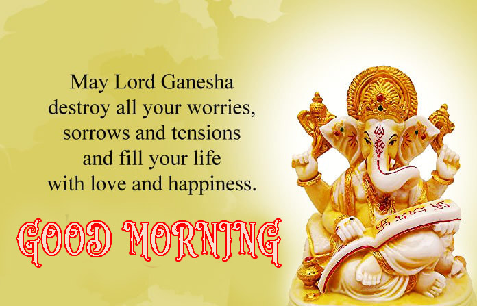 Hindi Quotes Ganesh Good Morning Images Wallpaper Pictures Photo pics HD For Whatsapp
