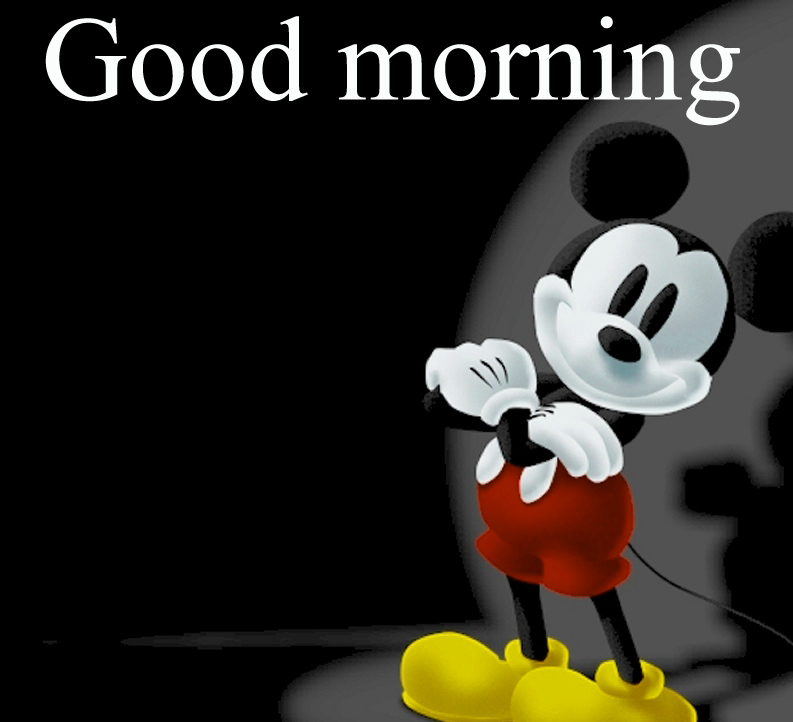 Good morning  wishes with mickey Images Pictures Free HD Download