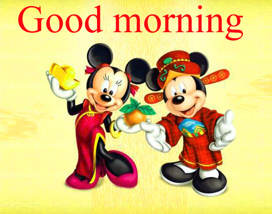 Good morning  wishes with mickey Pictures Images Photo Download