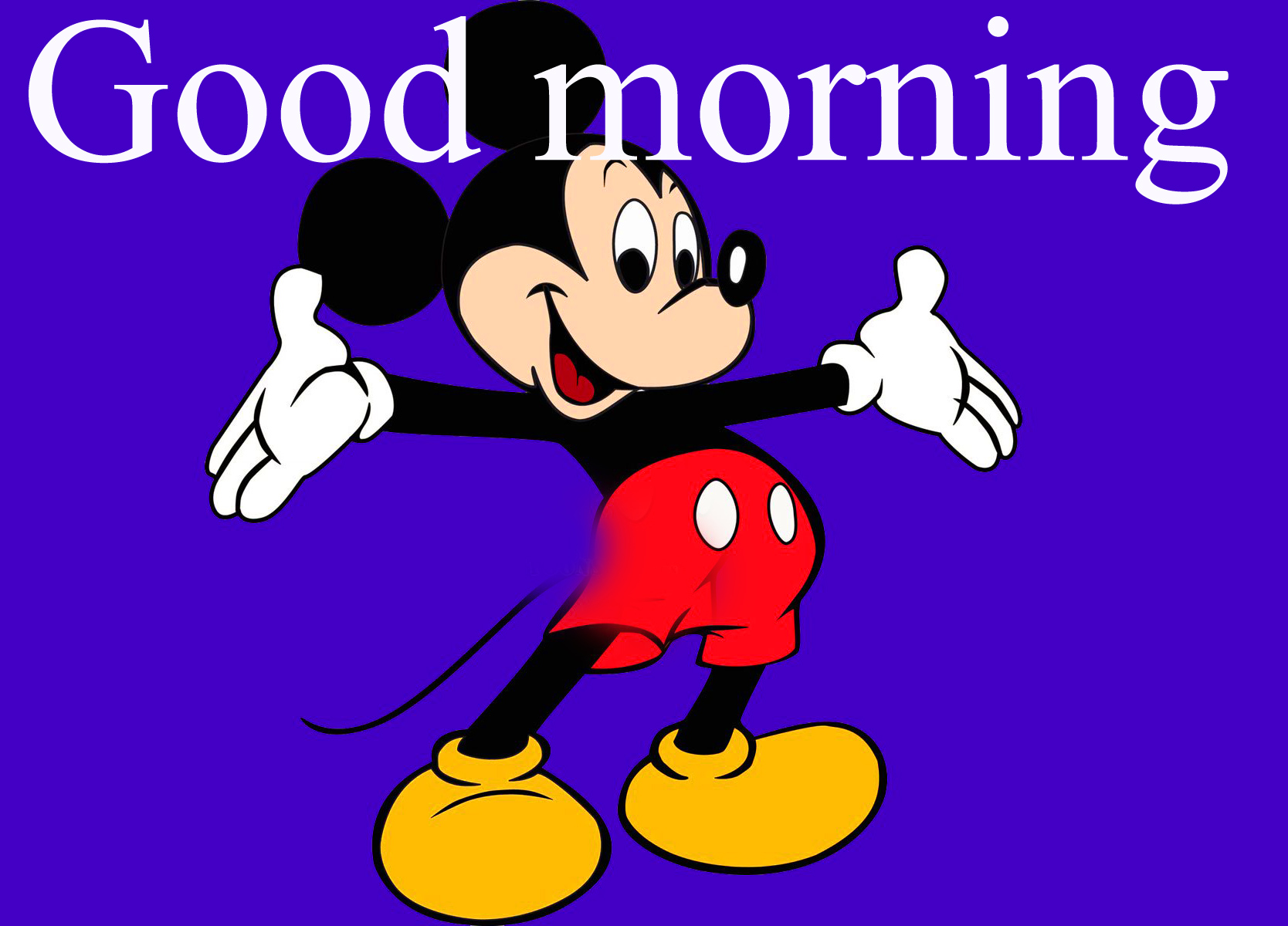 Good morning  wishes with mickey Photo Wallpaper Images HD Download