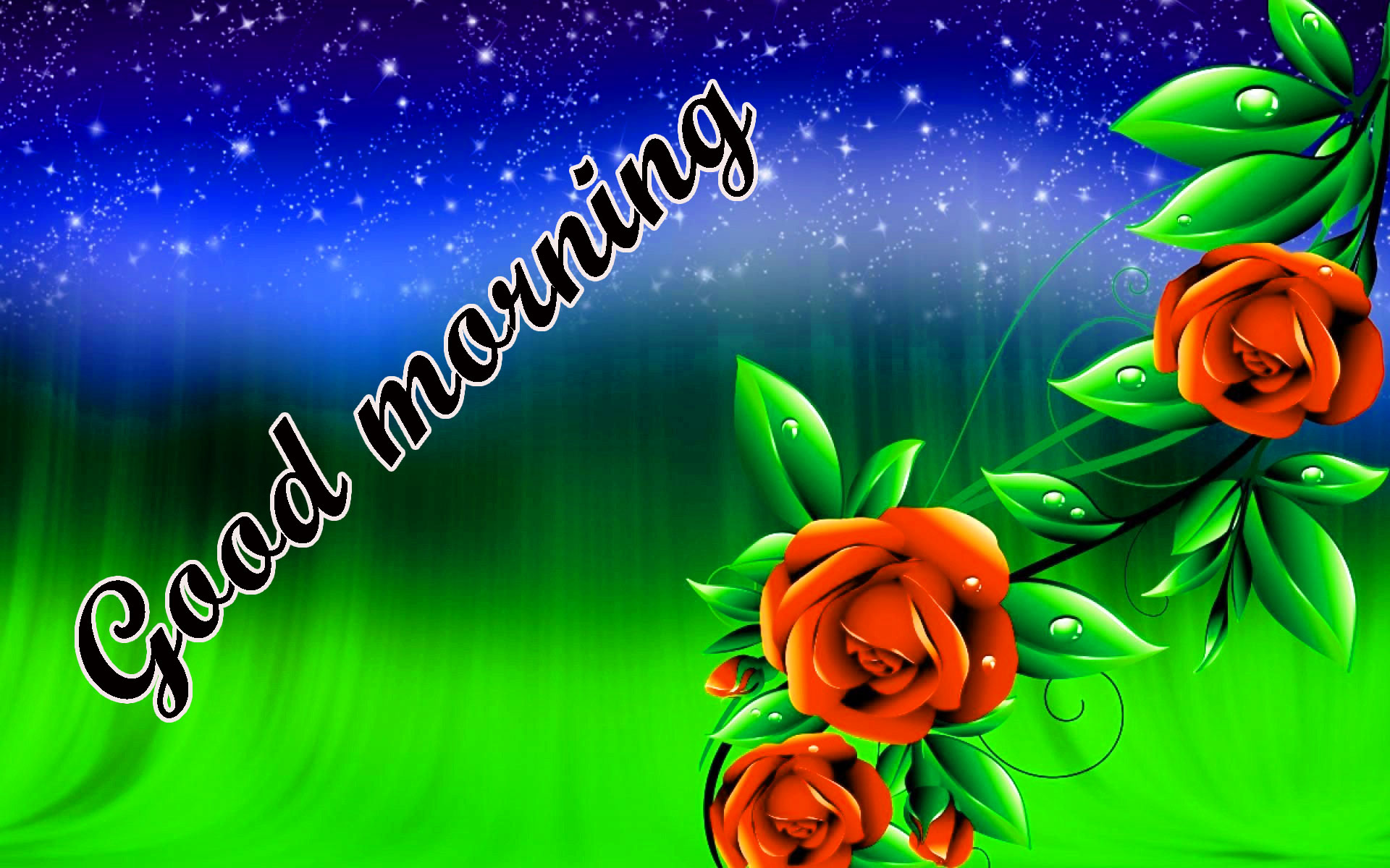 BEAUTIFUL 3D GOOD MORNING IMAGES WALLER WITH FLOWER