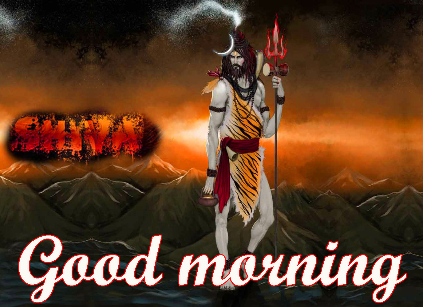 BEAUTIFUL 3D GOOD MORNING IMAGES WALLPAER PICS WITH LORD SHIVA